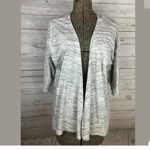 LuLaRoe lindsay kimono gray size small